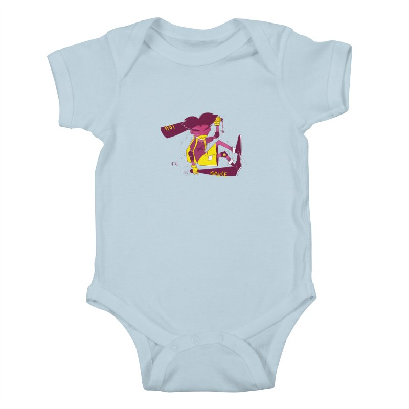 Hot Sauce Kids Baby Bodysuit by JoniWaffle's Artist Shop