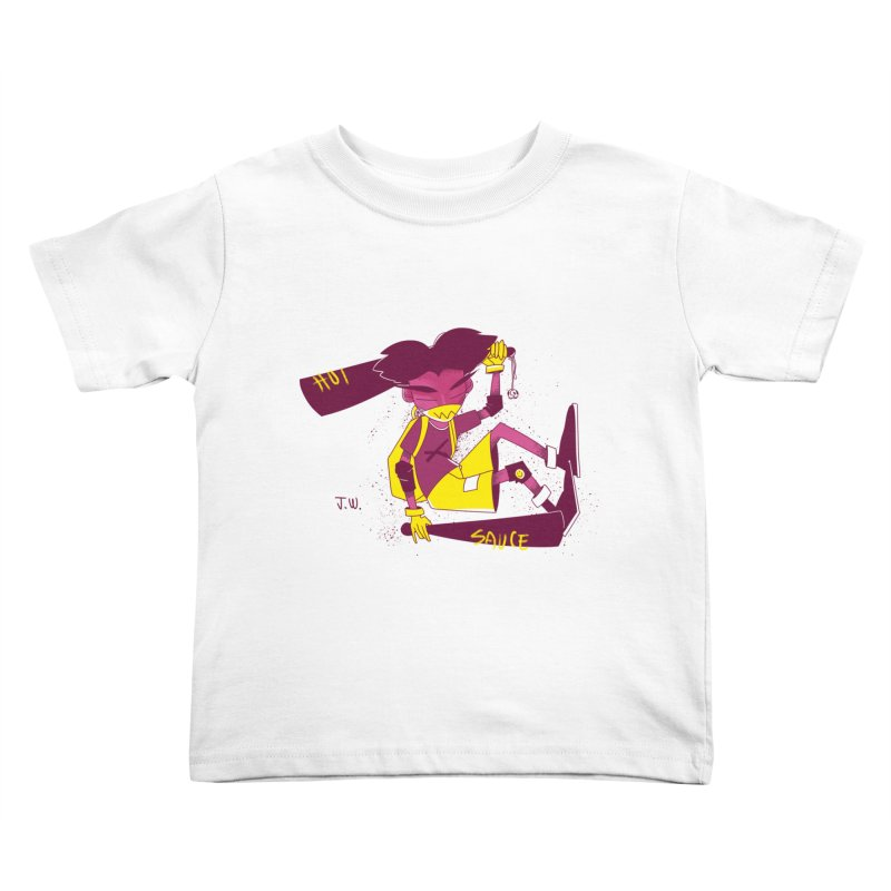 Hot Sauce Kids Toddler T-Shirt by JoniWaffle's Artist Shop