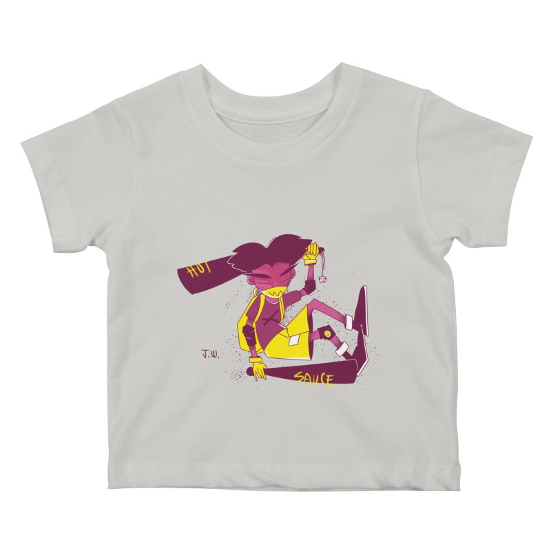 Hot Sauce Kids Baby T-Shirt by JoniWaffle's Artist Shop