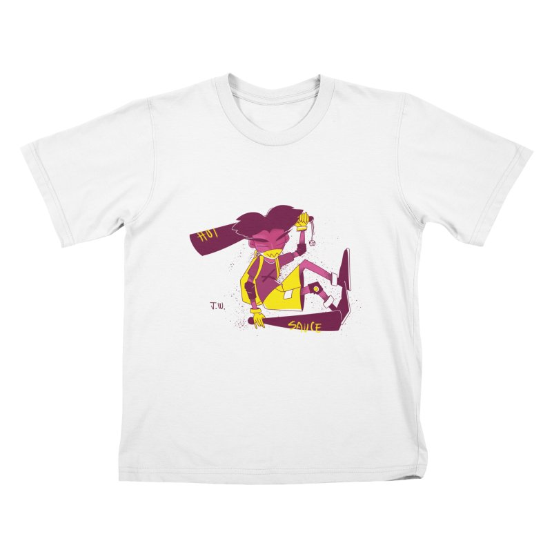 Hot Sauce Kids T-shirt by JoniWaffle's Artist Shop