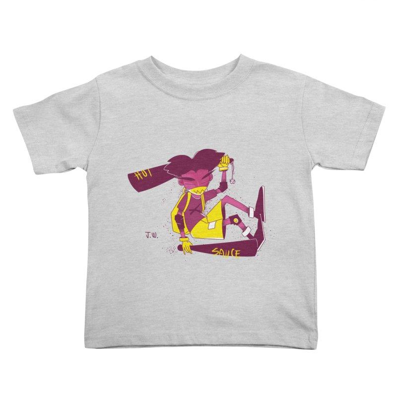 Hot Sauce Kids Toddler T-Shirt by JoniWaffle's Artist Shop
