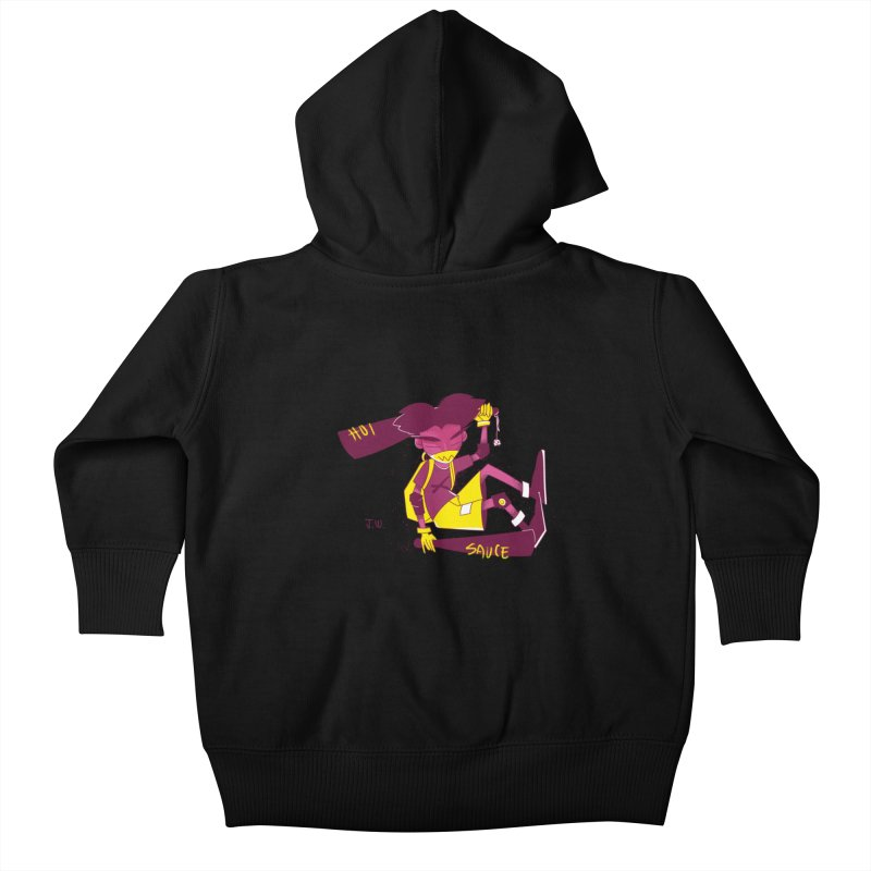 Hot Sauce Kids Baby Zip-Up Hoody by JoniWaffle's Artist Shop