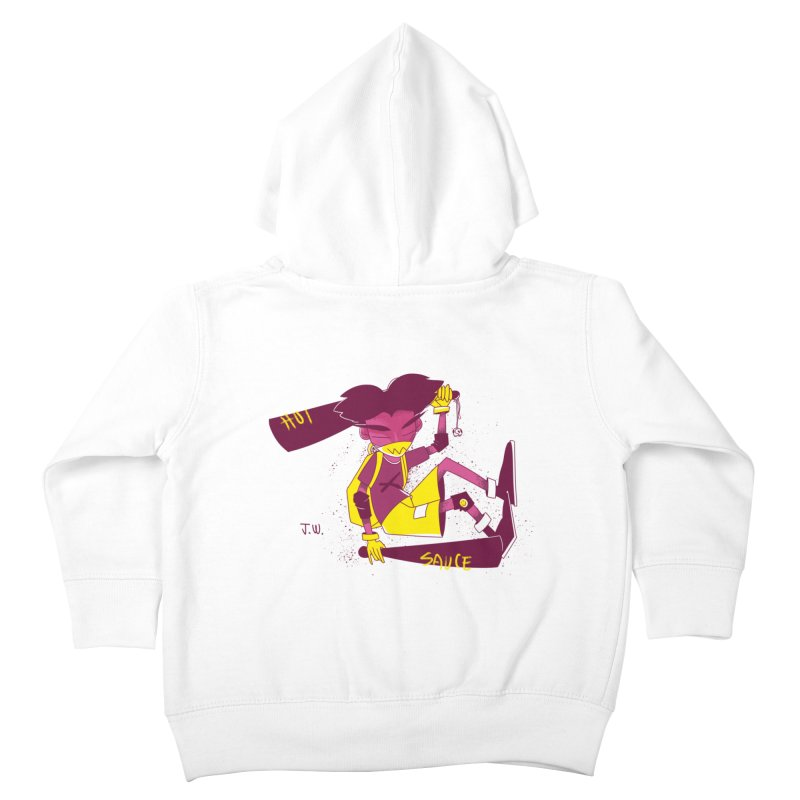 Hot Sauce Kids Toddler Zip-Up Hoody by JoniWaffle's Artist Shop