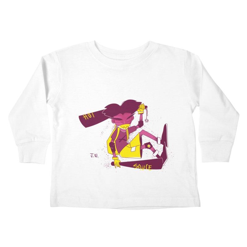Hot Sauce Kids Toddler Longsleeve T-Shirt by JoniWaffle's Artist Shop