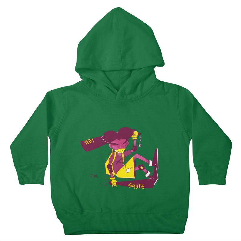 Hot Sauce Kids Toddler Pullover Hoody by JoniWaffle's Artist Shop