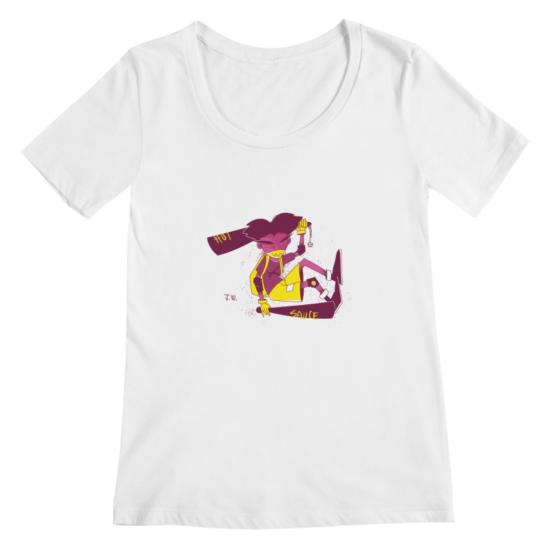 Hot Sauce Women's Scoopneck by JoniWaffle's Artist Shop
