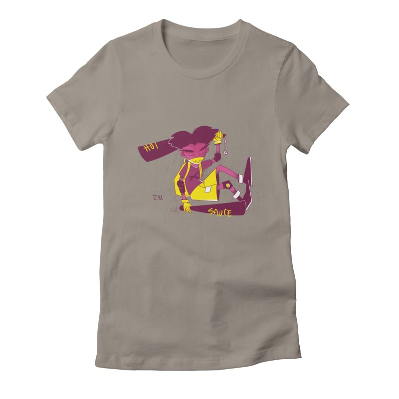 Hot Sauce Women's Fitted T-Shirt by JoniWaffle's Artist Shop