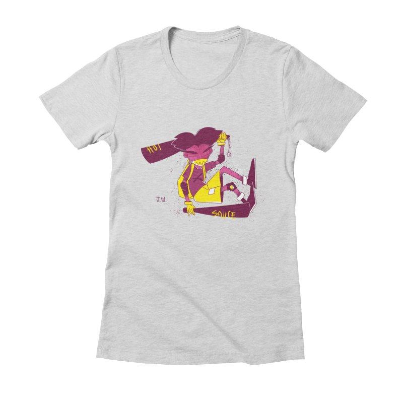 Hot Sauce Women's Fitted T-Shirt by JoniWaffle's Artist Shop