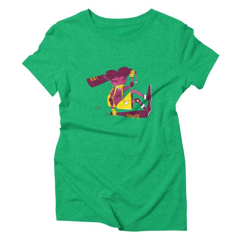 Hot Sauce Women's Triblend T-Shirt by JoniWaffle's Artist Shop