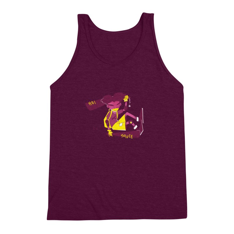 Hot Sauce Men's Triblend Tank by JoniWaffle's Artist Shop