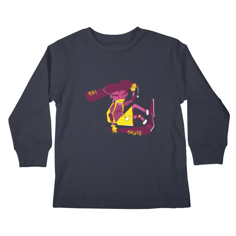 Hot Sauce Kids Longsleeve T-Shirt by JoniWaffle's Artist Shop