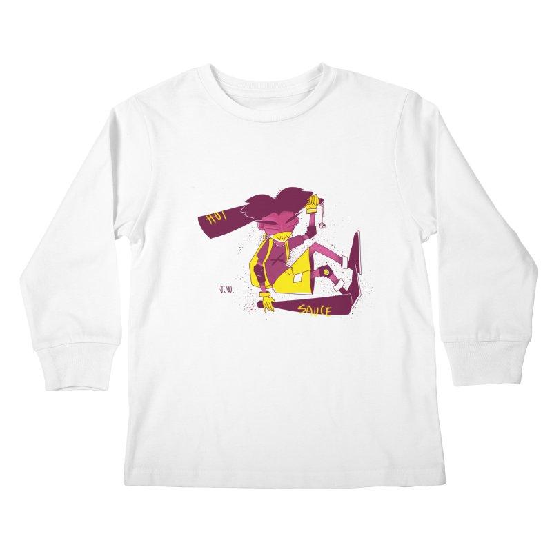 Hot Sauce Kids Longsleeve T-Shirt by JoniWaffle's Artist Shop