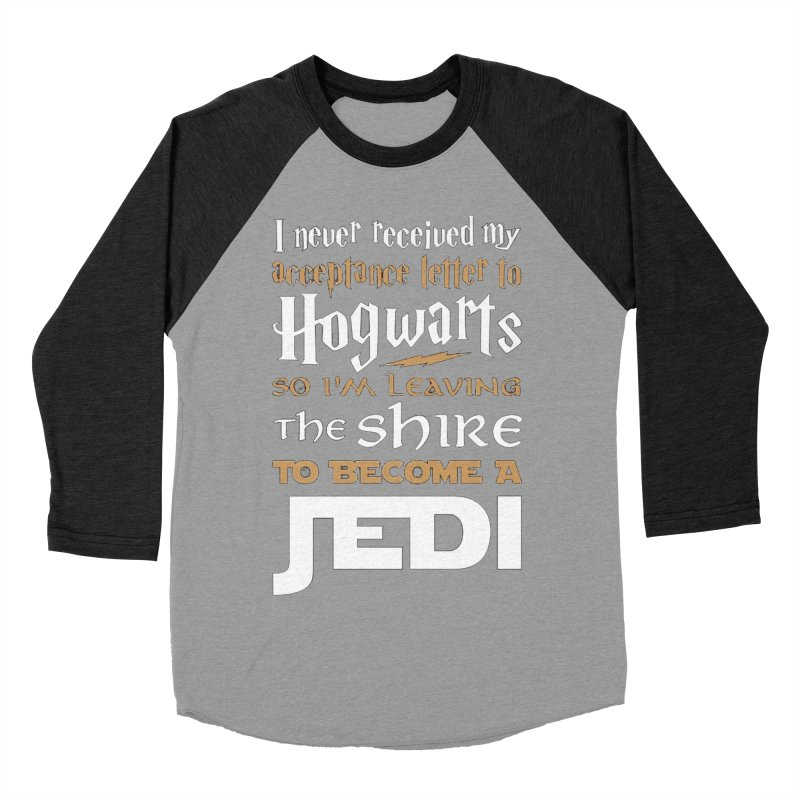 Harry Potter Star Wars Women's Baseball Triblend T-Shirt by Game Of Thrones and others Collection