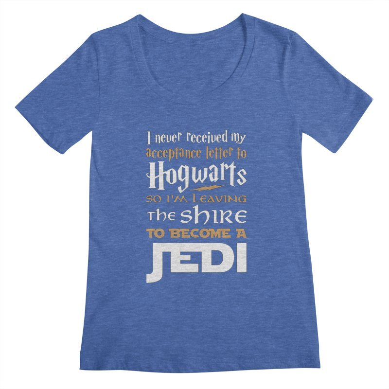 Harry Potter Star Wars Women's Regular Scoop Neck by Game Of Thrones and others Collection