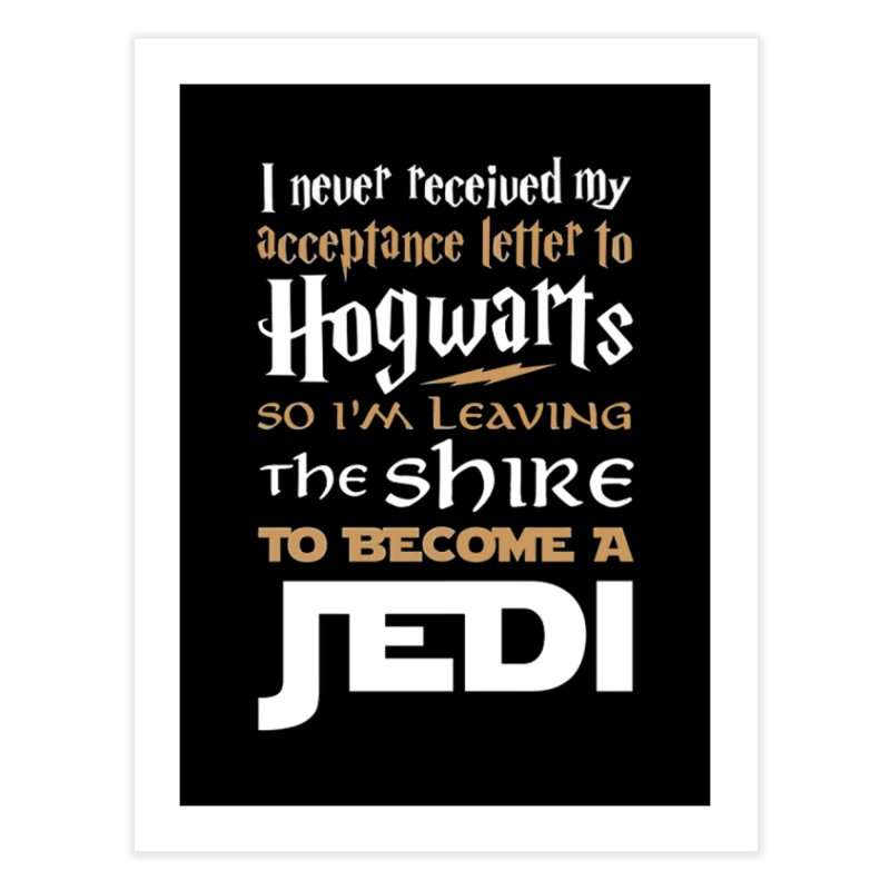 Harry Potter Star Wars Home Fine Art Print by Game Of Thrones and others Collection