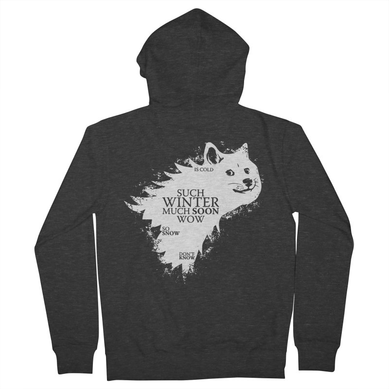 Game of Doge Game of thrones Men's French Terry Zip-Up Hoody by Game Of Thrones and others Collection