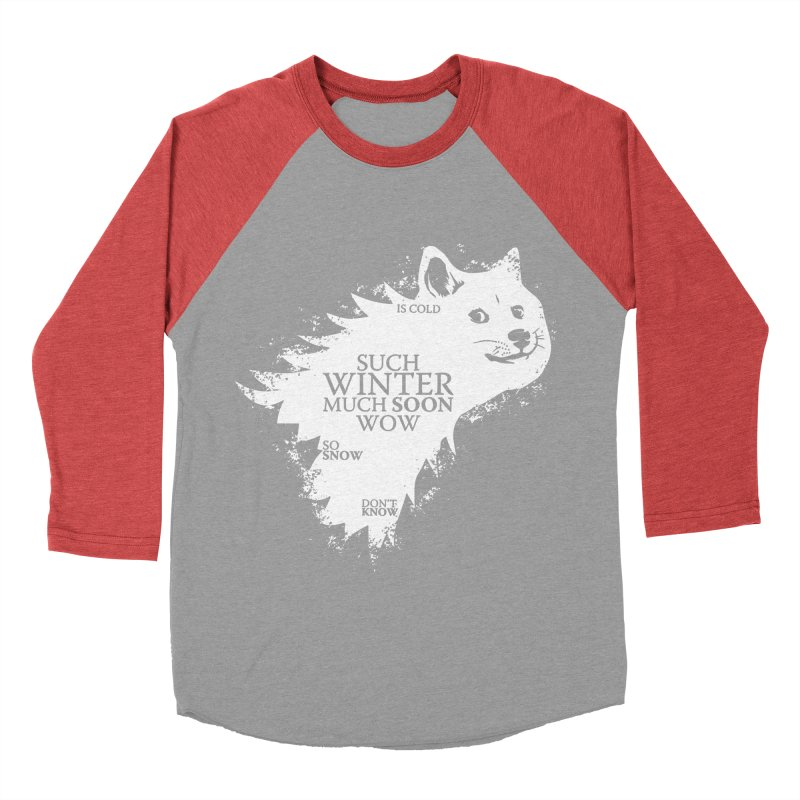 Game of Doge Game of thrones Women's Baseball Triblend Longsleeve T-Shirt by Game Of Thrones and others Collection