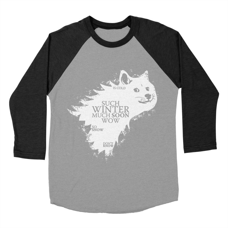 Game of Doge Game of thrones Women's Baseball Triblend T-Shirt by Game Of Thrones and others Collection