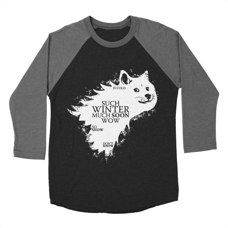 Game of Doge Game of thrones Men's Baseball Triblend Longsleeve T-Shirt by Game Of Thrones and others Collection