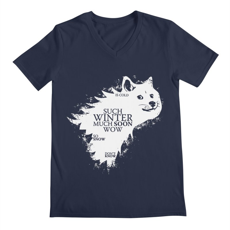 Game of Doge Game of thrones Men's V-Neck by Game Of Thrones and others Collection