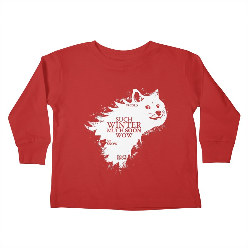Game of Doge Game of thrones Kids Toddler Longsleeve T-Shirt by Game Of Thrones and others Collection