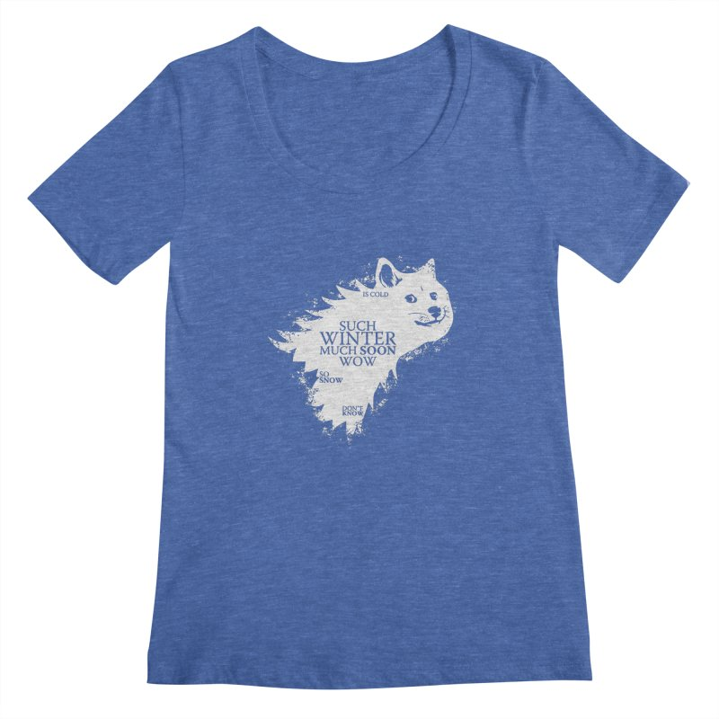 Game of Doge Game of thrones Women's Regular Scoop Neck by Game Of Thrones and others Collection