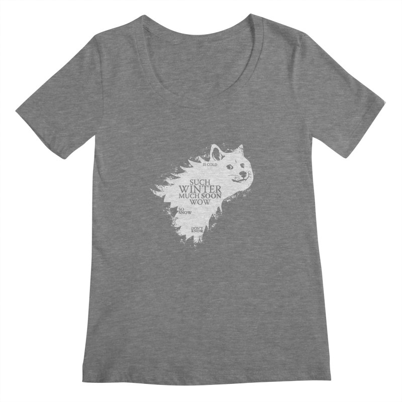 Game of Doge Game of thrones Women's Scoopneck by Game Of Thrones and others Collection