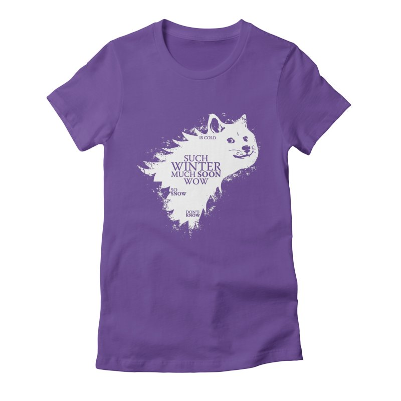 Game of Doge Game of thrones Women's Fitted T-Shirt by Game Of Thrones and others Collection