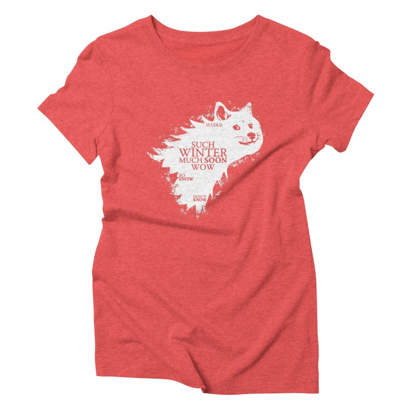 Game of Doge Game of thrones Women's Triblend T-Shirt by Game Of Thrones and others Collection