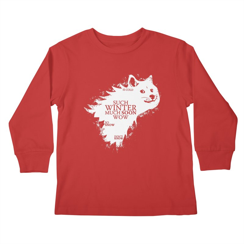 Game of Doge Game of thrones Kids Longsleeve T-Shirt by Game Of Thrones and others Collection