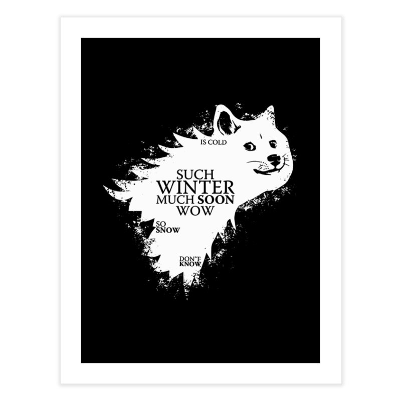 Game of Doge Game of thrones Home Fine Art Print by Game Of Thrones and others Collection