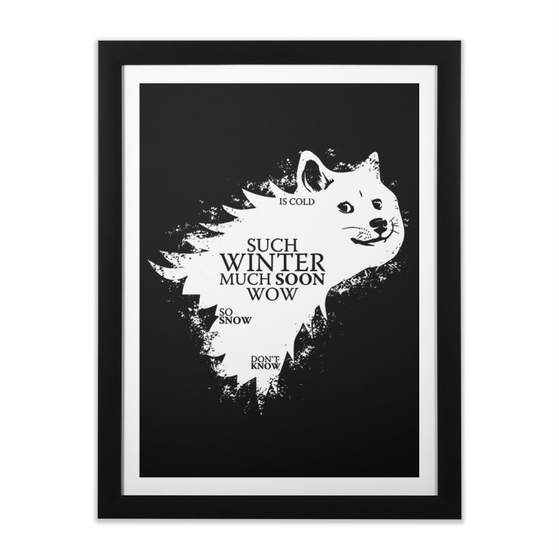 Game of Doge Game of thrones Home Framed Fine Art Print by Game Of Thrones and others Collection