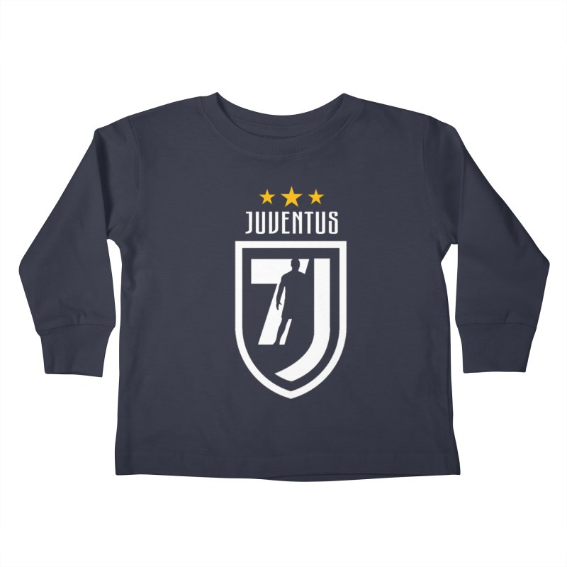 Cristiano Ronaldo Juventus Kids Toddler Longsleeve T-Shirt by Game Of Thrones and others Collection