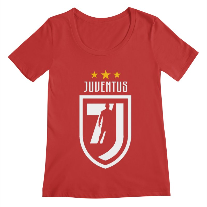 Cristiano Ronaldo Juventus Women's Regular Scoop Neck by Game Of Thrones and others Collection