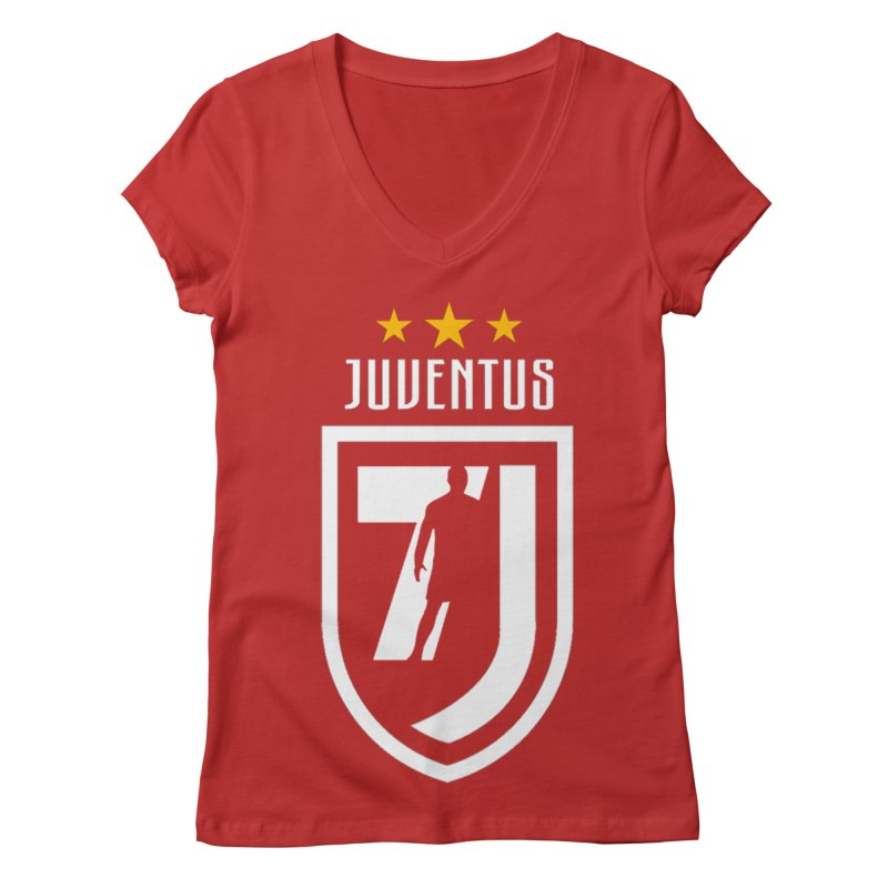 Cristiano Ronaldo Juventus Women's Regular V-Neck by Game Of Thrones and others Collection