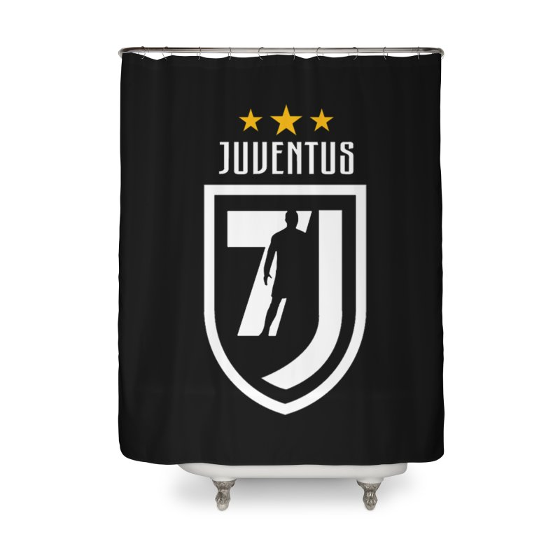 Cristiano Ronaldo Juventus Home Shower Curtain by Game Of Thrones and others Collection