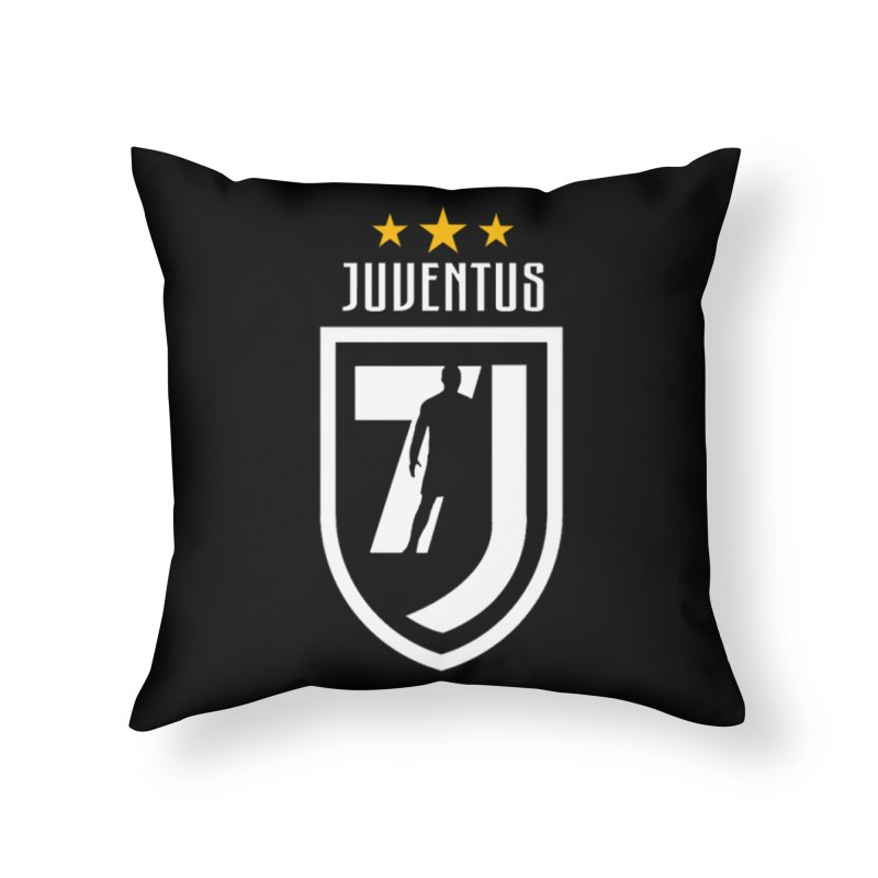 Cristiano Ronaldo Juventus Home Throw Pillow by Game Of Thrones and others Collection