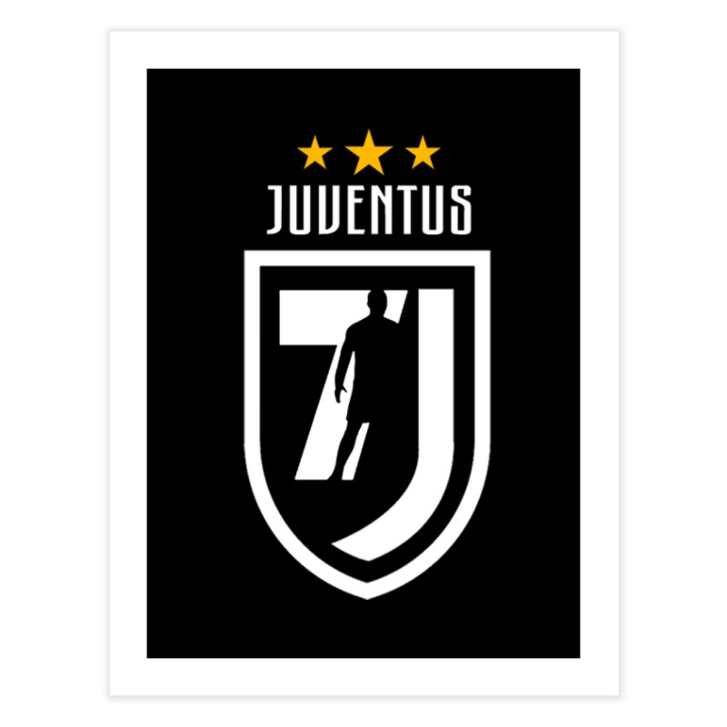 Cristiano Ronaldo Juventus Home Fine Art Print by Game Of Thrones and others Collection