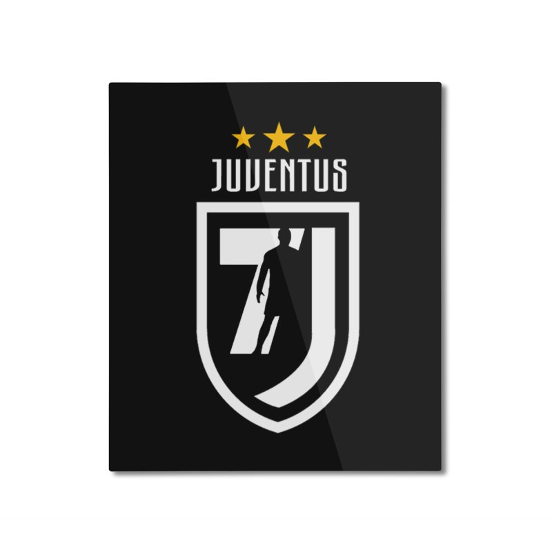 Cristiano Ronaldo Juventus Home Mounted Aluminum Print by Game Of Thrones and others Collection