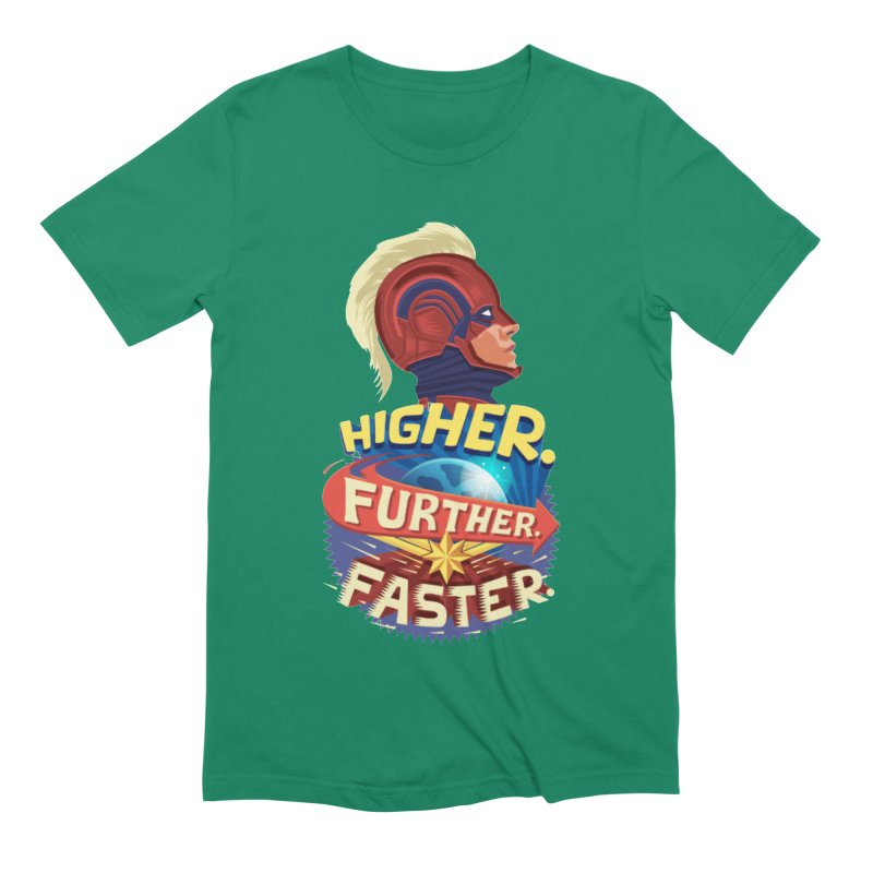 Captain Marvel Higher Further Faster Men's Extra Soft T-Shirt by Game Of Thrones and others Collection