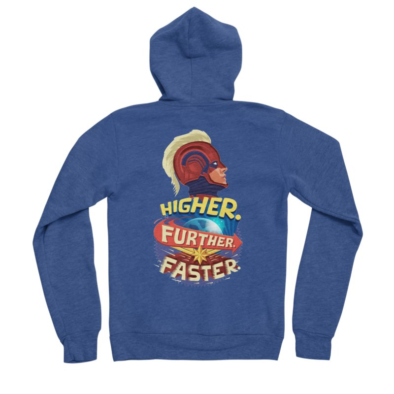 Captain Marvel Higher Further Faster Men's Sponge Fleece Zip-Up Hoody by Game Of Thrones and others Collection