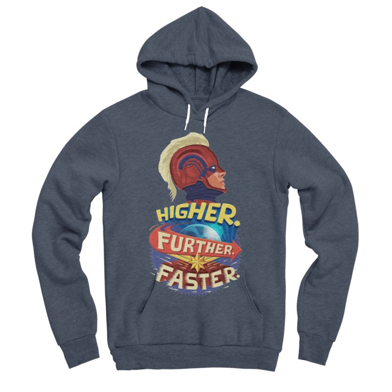 Captain Marvel Higher Further Faster Men's Sponge Fleece Pullover Hoody by Game Of Thrones and others Collection