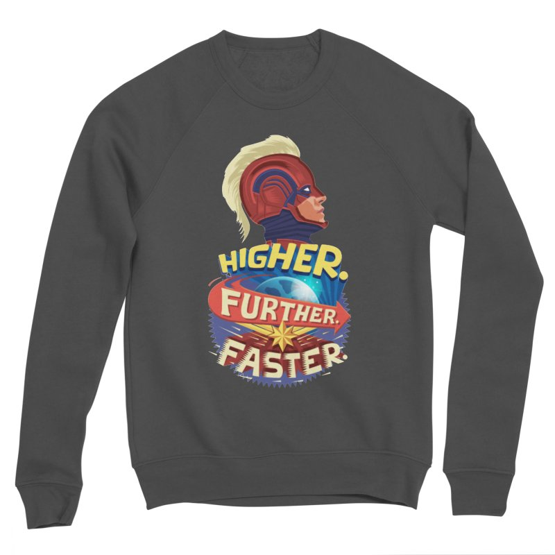 Captain Marvel Higher Further Faster Men's Sponge Fleece Sweatshirt by Game Of Thrones and others Collection
