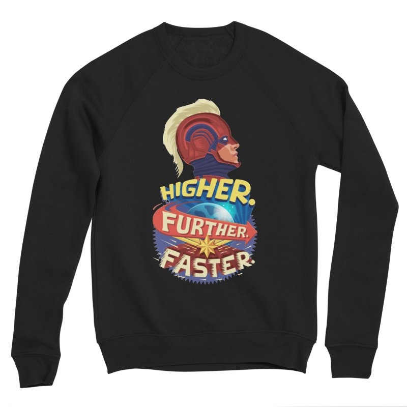 Captain Marvel Higher Further Faster Women's Sponge Fleece Sweatshirt by Game Of Thrones and others Collection