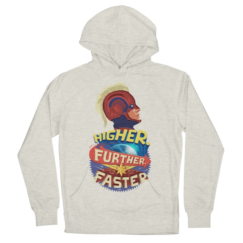 Captain Marvel Higher Further Faster Men's French Terry Pullover Hoody by Game Of Thrones and others Collection