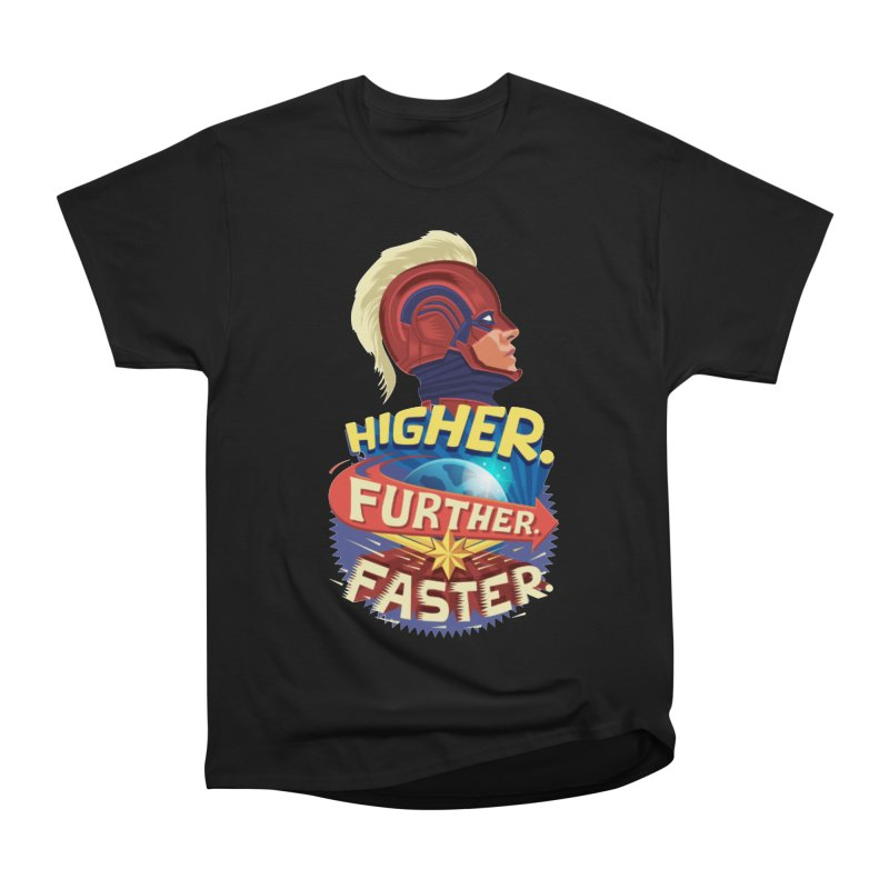 Captain Marvel Higher Further Faster Men's Heavyweight T-Shirt by Game Of Thrones and others Collection