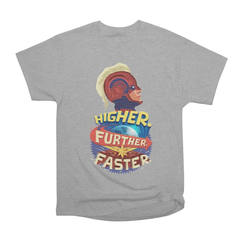 Captain Marvel Higher Further Faster Women's Heavyweight Unisex T-Shirt by Game Of Thrones and others Collection