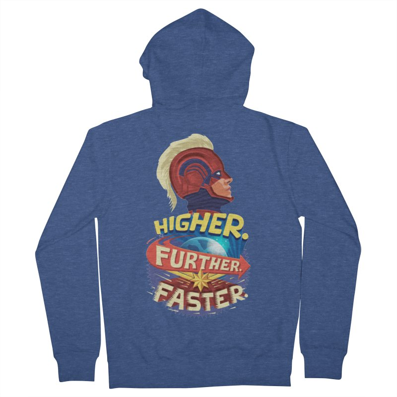 Captain Marvel Higher Further Faster Women's French Terry Zip-Up Hoody by Game Of Thrones and others Collection