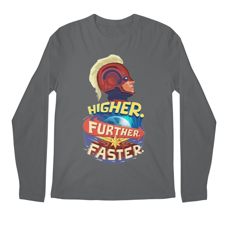 Captain Marvel Higher Further Faster Men's Regular Longsleeve T-Shirt by Game Of Thrones and others Collection