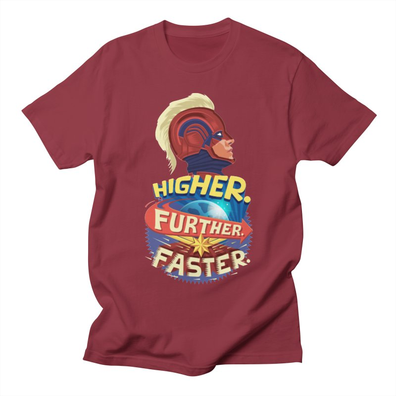 Captain Marvel Higher Further Faster Men's Regular T-Shirt by Game Of Thrones and others Collection